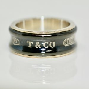 Tiffany & Co Tri Tone Onyx Stunning Ring
